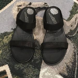 Fitflop all leather with shimmer